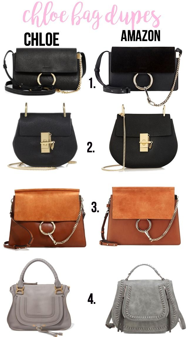 Cheap Chloe bag dupes on Amazon for under $100 ! Get spot on dupes for the most popular Chloe bags.  Designer bag dupes