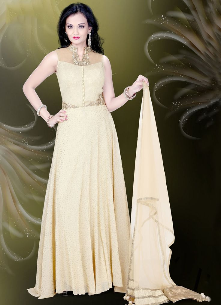 Buy Sorcerous Embroidered Work Readymade Gown