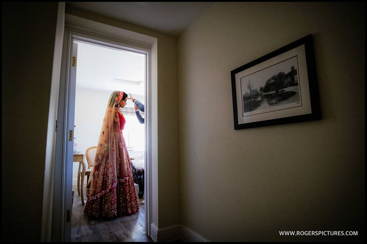 Sheena, moments before marrying Jason at Froyle Park, more images here -