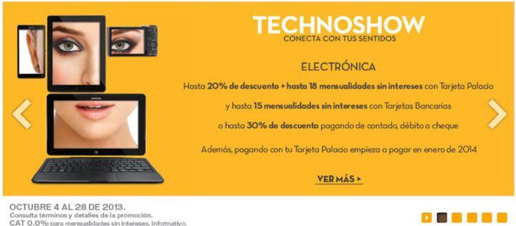 Palacio de Hierro Hasta 20% de Descuento y 18 MSI En Electronica - Ofertas Descuentos