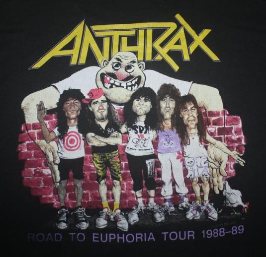 Vintage 80s Anthrax Road To Euphoria Tour T-Shirt