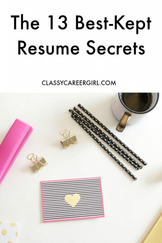 The 13 Best Kept Resume Secrets