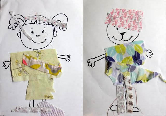 Toddler fun!: scrap cloth paper dolls BuonaSeraBaby