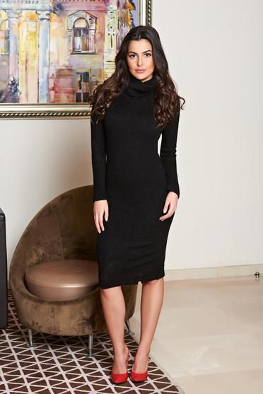 Rochie PrettyGirl Sensational Design Black