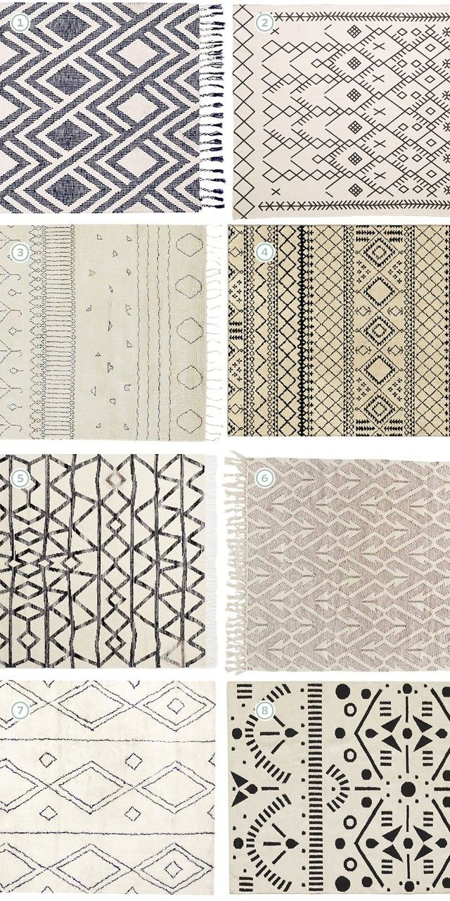 High Quality Neutral Geometric Rugs