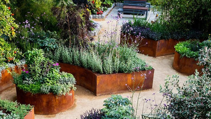 Curved Raised Beds Vegetable Gardening In 2020 Edible Garden Small Gardens Budget Garden