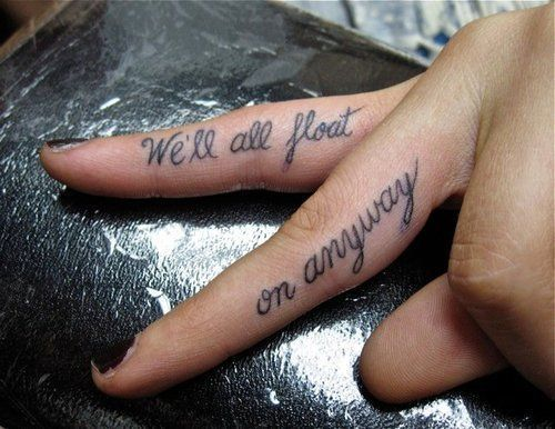 Modest Mouse tattoo.