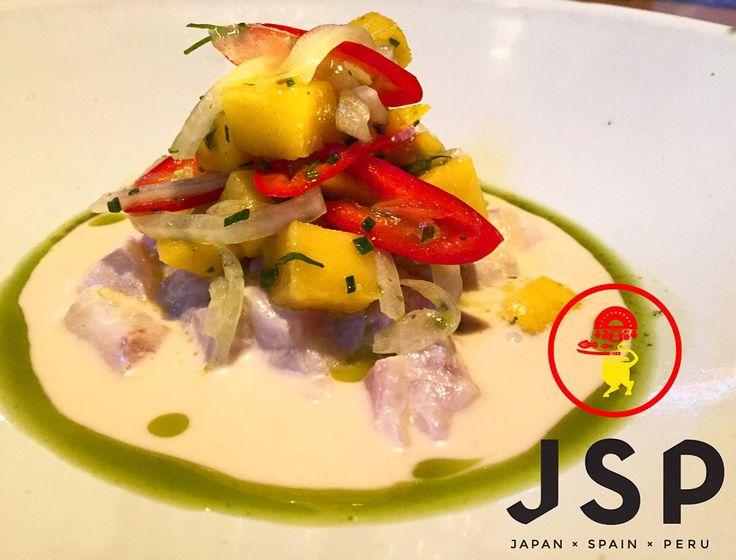 Seabass Ceviche***** Coconut Tigers Milk/Chilli-Mango Salsa  #cinco #jsp #japan #spain #peru #nikkei #restaurant #tapas #athens #kolonaki #skoufa #endlessdream #cinco_athens #pisco #sake #ceviche #tiradito #tigersmilk #cincoathens #markadakisteam http://www.cincoathens.com