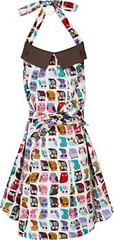Cahoots Owl ApronNite Owls, Colors Owls, Cahoot Aprons, Owls Umbrellas, Paper Sources, Cahoot Owls, Kitchens Gift, Girly Aprons, Owls Aprons