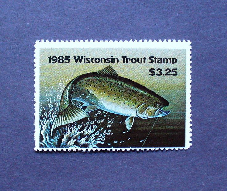 33 best wisconsin trout stamps images on pinterest for Wisconsin trout fishing