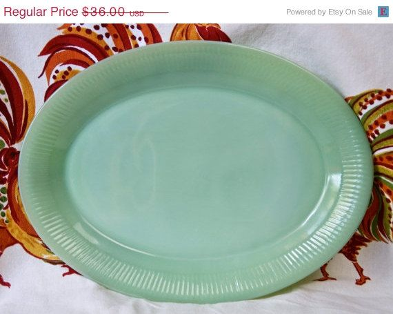 Fire King Jadeite Platter Green Milk Gl Plate