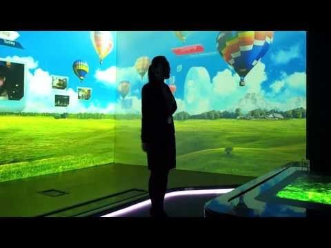 Amazing future technology:interactive full room wall to wall motion sensor entertainment - YouTube