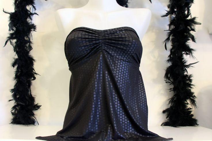 Sırt Dekolteli Siyah Sırtı Açık Straplez Bayan Abiye Bluz Gece Kıyafeti Bayan Üst Giyim