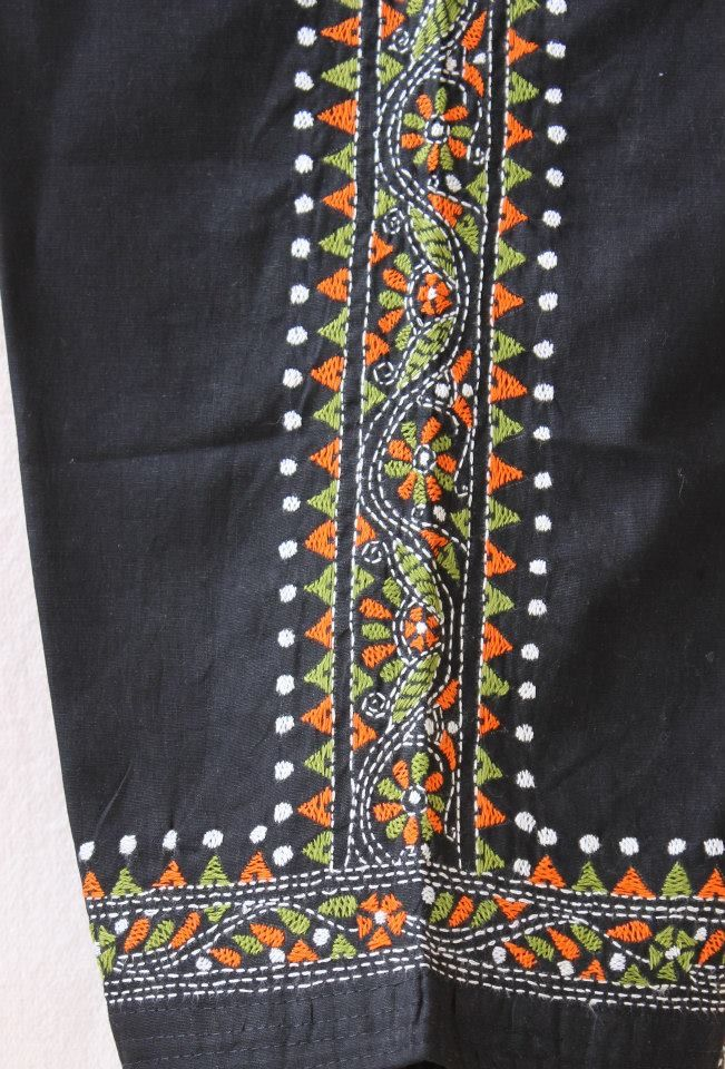 Kantha work pinterest embroidery