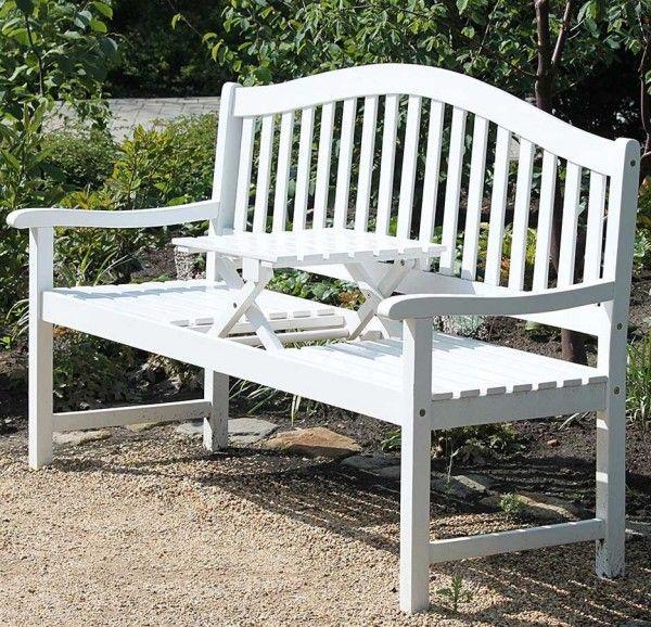 Gartenbank Holz Weiss Mit Tisch Gartenbank Holz Gartenbank Weiss