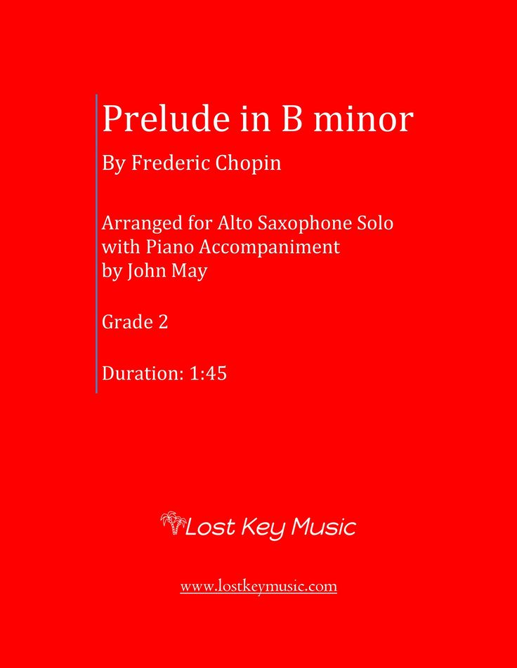 Prelude in B minor-Alto Saxophone with Piano Accompaniment