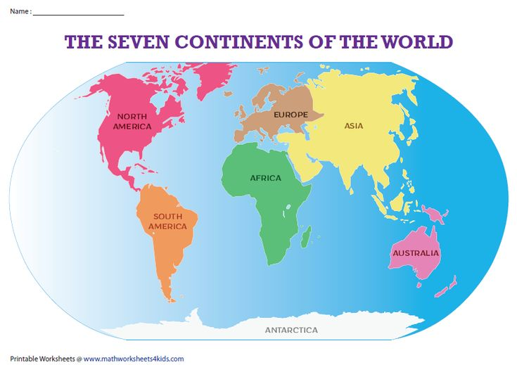 The Seven Continents Of The World Worksheets And Activities Continents Homeschool Middle School Labeling Activities Label the continents worksheets