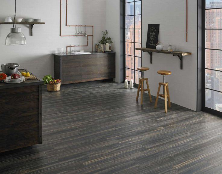 Tmavá dlažba v imitaci dřeva BENTON | Keramika Soukup