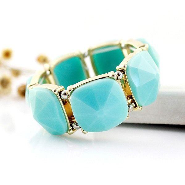 Aqua & Gemstone Gemstone Bracelet, Women's Fashion Accessories