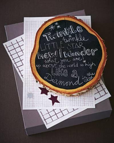 Eine Baumstammscheibe und Tafellack - mehr brauchen Sie gar nicht, um eine Holz-Tafel zu basteln. Mit einem hübschen Spruch versehen, ersetzt die Tafel sogar die Weihnachtskarte. Zur Anleitung: Holz-Tafel selber machen