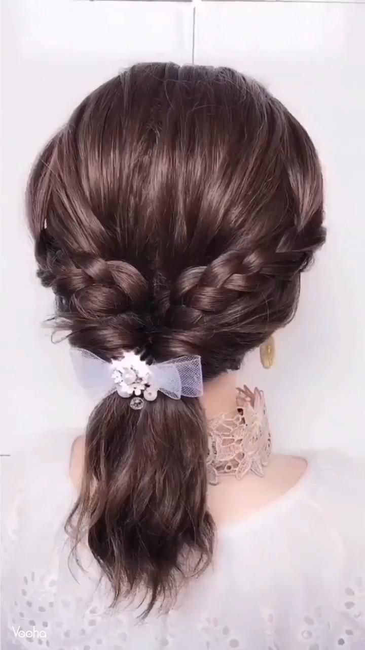 Amazing Hairstyle Video Tutorial Checkout Cute Hair Accessories Online By Clicking The Link In 2020 Hair Styles Hair Tutorial Short Hair Tutorial