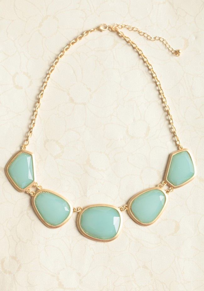 Mint Pebbles Necklace | Modern Vintage Jewelry