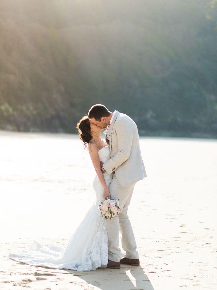 #bridalcouple #posing #Cornwall #wedding #England #portrait #goldenhour #weddingphotography #destinationwedding #posing #film #portra400