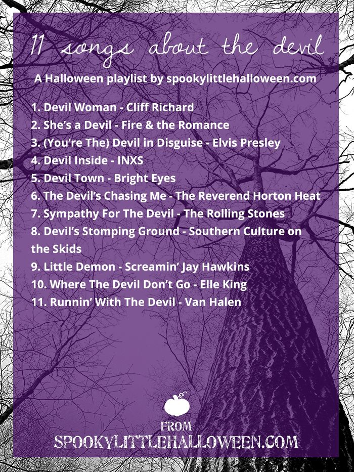 halloween mixtape 11 songs about the devil - Top 25 Halloween Songs