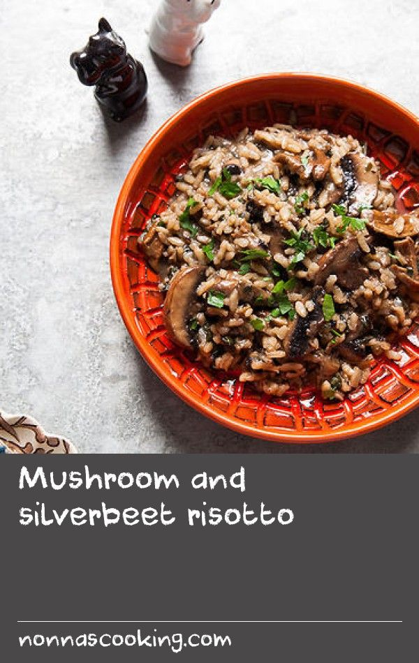"Mushroom and silverbeet risotto | ""If you've ever been fearful of making risotto, I'm letting you know there's no need! It's been a phobia of mine until last year, when a good friend gifted me a bag of excellent risotto rice. Around the same time I had just started my own vegie patch and had silverbeet coming out my ears. My market neighbour is a mushroom grower so we always have plenty of mushies in the fridge. With all this goodness around me, I essentially got guilted into conquering a…"