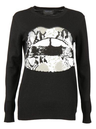 MARKUS LUPFER Markus Lupfer Sequin Python Sweater. #markuslupfer #cloth #sweaters