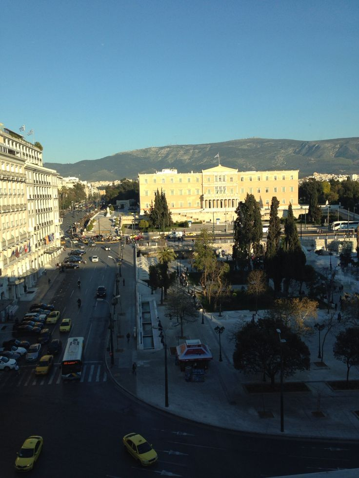 Athens center city view