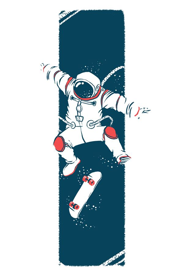 astronaut skateboarding - photo #20
