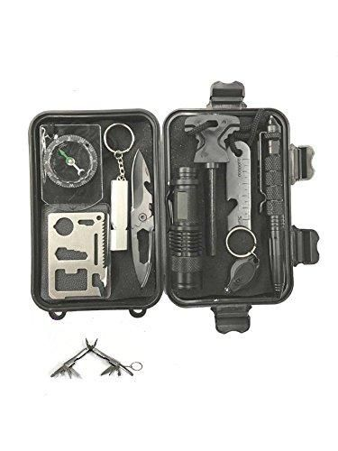 Survival Kit 20 in 1 Functions, With Multi Tool Wolf Pak Professional kit For Emergency Outdoors Survival Gear or Gift