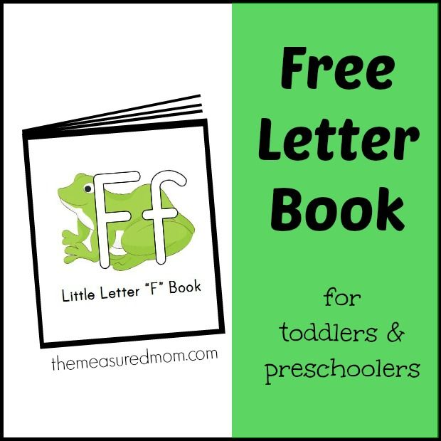 Printable book with familiar rhymes and songs for letter F!