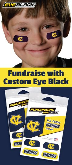 Custom Eye Black is the ultimate fundraising item!  Learn more here: https://www.eyeblack.com/fundraising/