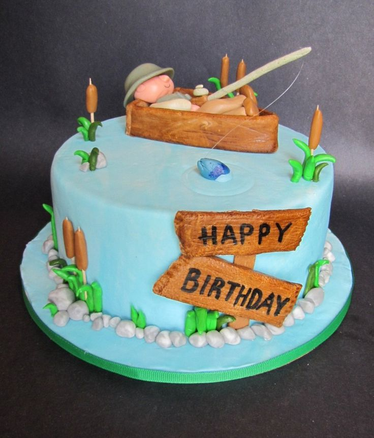 Best 25 gone fishing cake ideas on pinterest for Fishing themed cakes