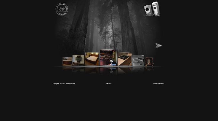 Flash website for hand-made furniture manufacturer