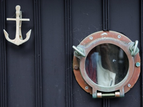 1000 images about nautical decor on pinterest anchors nautical design and nautical bedroom - Door knockers with peephole ...