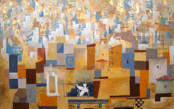 «Χρυσή Αθήνα» έργο του Σπύρου Βασιλείου.