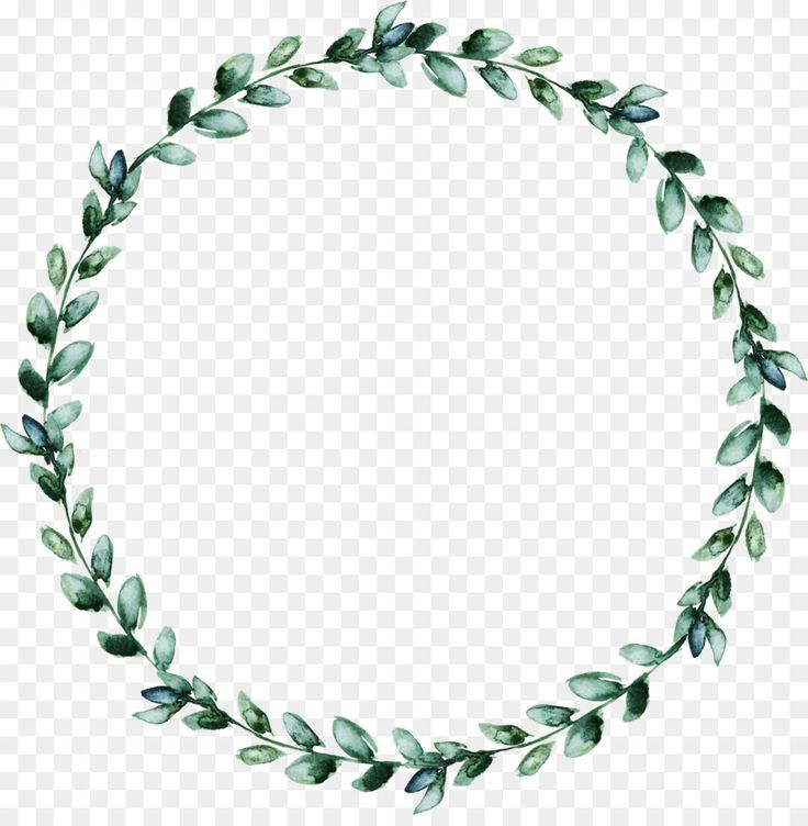 Wreath Leaf Watercolor Wreath Of Green Leaves Png Is About Is About Line Gree Life With Alyda แท กของขว ญ สต กเกอร แพทเท ร นลายวน