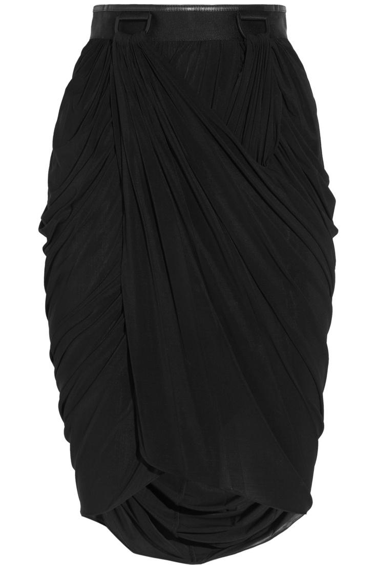 Satin-jersey wrap-effect skirt by Alexander Wang