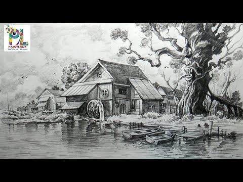 3 How To Draw And Shade A Scenery With Pencil Easy