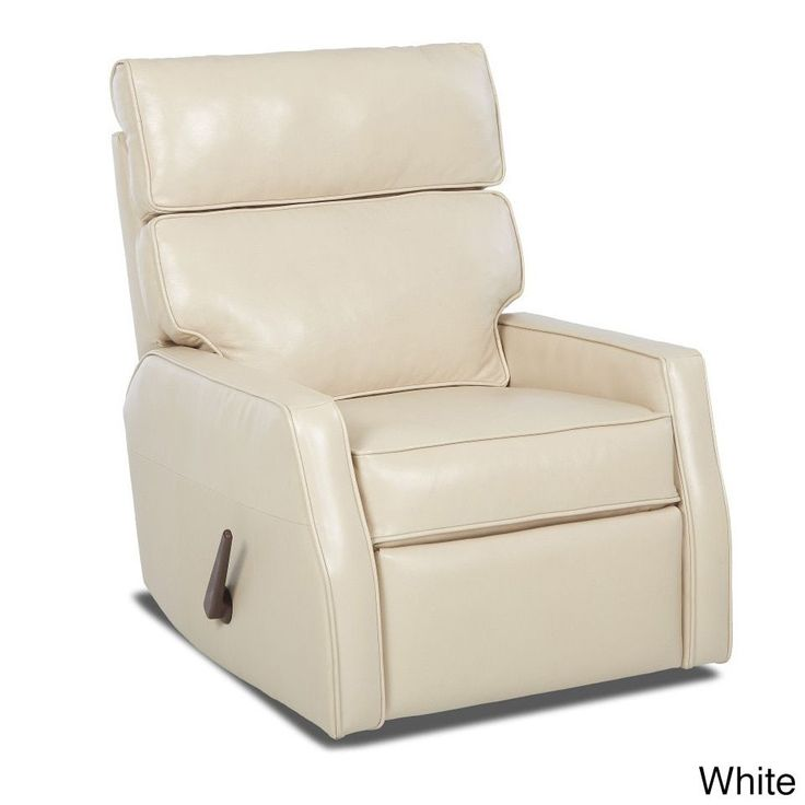 Klaussner Furniture Made to Order Fairlane Leather Reclining Rocking Chair (White), Size Standard