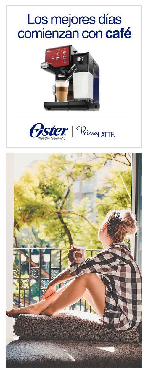 Tu taza de café siempre perfecta con Oster®  PrimaLatte®.  ¿Cómo lo vas a preparar hoy?