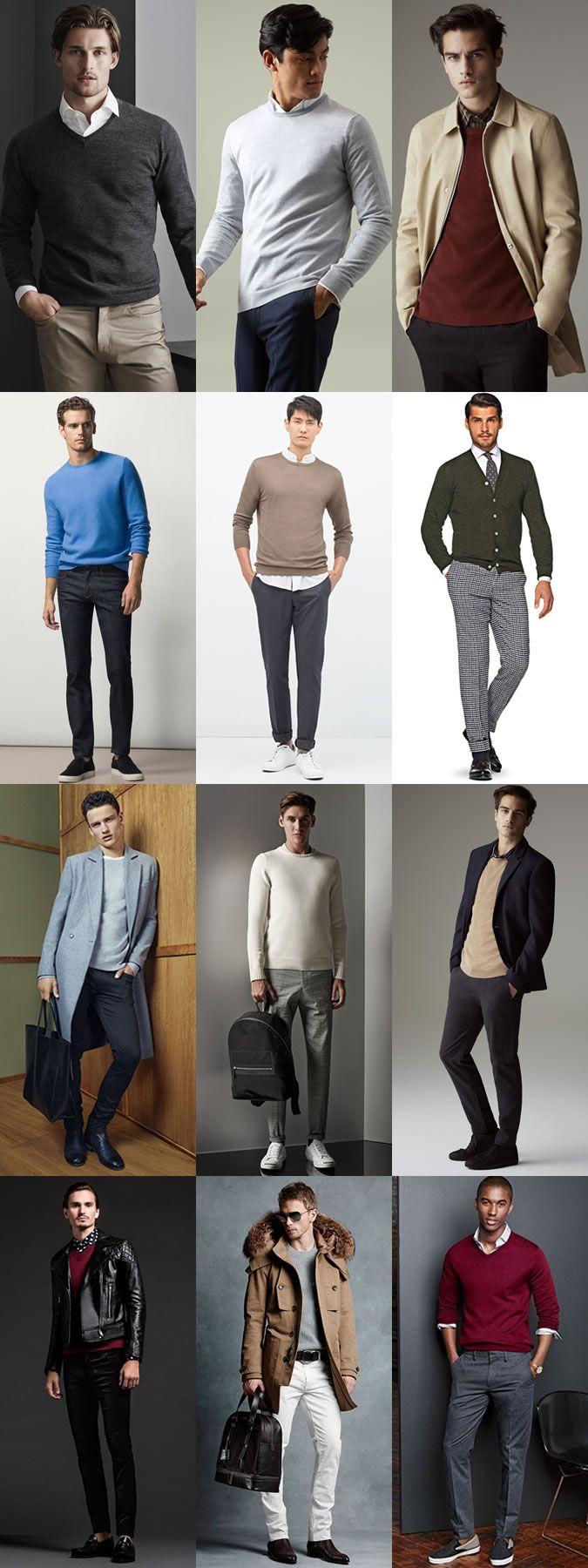 Men's Autumn Wardrobe Essentials: Lightweight Knitwear Autumn Outfit Inspiration Lookbook