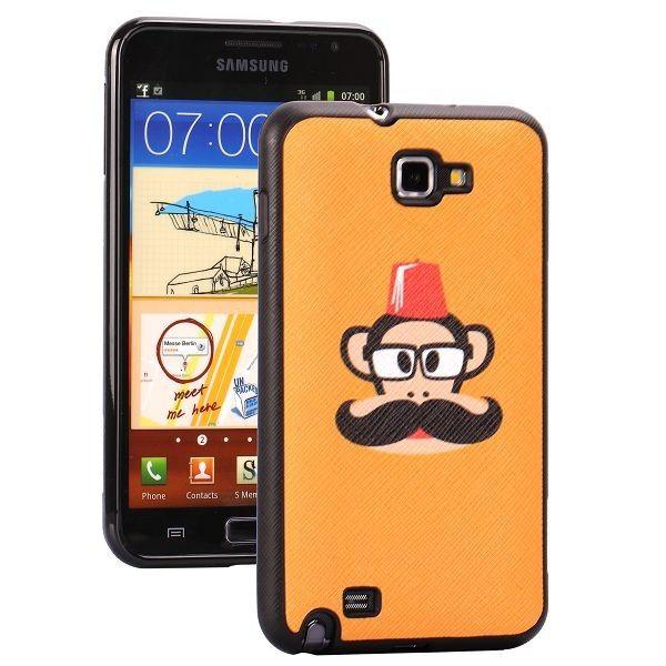 Cartoons (Vaaleanruskea) Samsung Galaxy Note Silikonisuojus