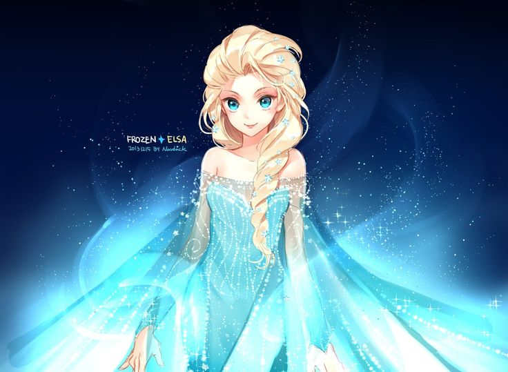 Frozen anime style