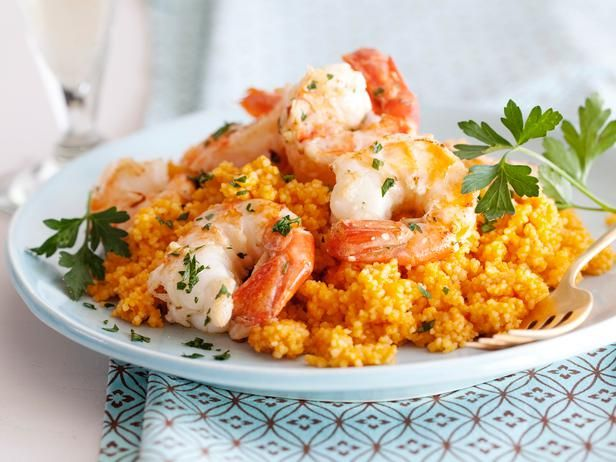 @Giada De Laurentiis's Scampi on Couscous: Giada cooks her couscous in a tomato broth, then tops it with garlic-laced shrimp. #RecipeOfTheDayAmazing Recipe, Tasty Recipe, Food Network, Giada De Laurentiis, Shrimp Scampi, Couscous Recipes, Eating Healthy, Foodnetwork, Cooking Channel