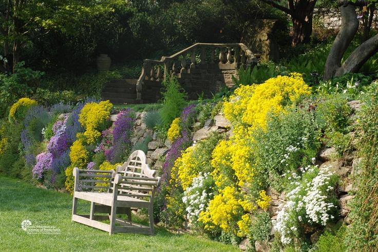 The rock wall garden later in the summer. Ahhhhh...
