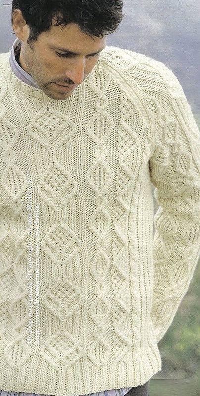 Пуловер спицами ...от Phildar (Франция) | Вязание: Для мужчин | Постила